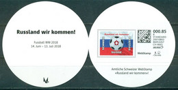 Switzerland,  RARE FIFA World Cup 2018, Web Stamp In Booklet Webstamp - 2018 – Rusland