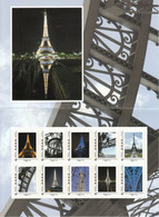France, The Eiffel Tower Self-Adhesive Stamp Booklet, MNH** - Sellos Personalizados