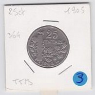 25 Cts Patey Fasceau  1905   Ttb - F. 25 Centimes