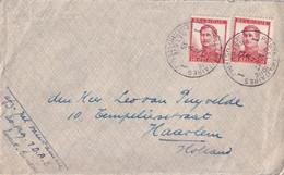 2 TP Pellens Obl; PMB 1 Le 6 V 1915  Quartier Général  Sur L Non Censurée Vers Haarlem Holland - Belgisch Leger