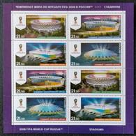 RUSSIA MNH (**)2016 FIFA Football World Cup 2018, Russia - Stadiums - Blocs & Hojas