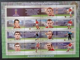 RUSSIA MNH (**)2016 FIFA Football World Cup 2018, Russia - Legends Of Russian Football - Blocs & Hojas
