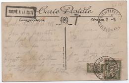 1918 Carte Non Affranchie Gare De Tarascon  20c Banderole Duval + Demi-timbre Coupé Pour 10c = 30c ((taxe De Fortune) - 1859-1955 Storia Postale