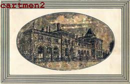 RARE ET CURIEUSE CPA : THIONVILLE DIEDENHOFEN BAHNHOF GARE STATION CELLULOÏD ? 57 MOSELLE 1914 - Thionville