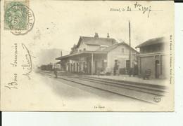 88 - Vosges - Etival - La Gare - Le Personnel Sur Les Quais - Cliché Avant 1903  - Animée - - Etival Clairefontaine