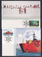 AAT 1991 Antarctic Treaty 2v 2 Maxicards (51160) - Tarjetas – Máxima