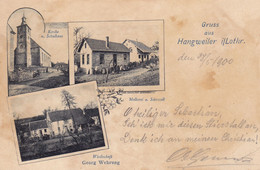 57 Gruss Aus HANGWEILER In Lothringen HANGVILLER église Restaurant Sarrebourg  Phalsbourg Moselle - Other Municipalities