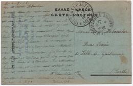 1916 Carte SALONIQUE Militaire Aviation Française Détaché à L'Armée Serbe Escadrille MF99 Secteur Postal 502 Voir GRIFFE - Guerra Del 1914-18