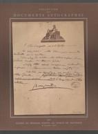 Fac Simile D'un Document Autographe De NAPOLEON BONAPARTE   (offert Laboratoire LEBEAULT (Besins Et Cie) ) ( CAT 2243) - Autographs