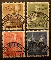 Deutsches Reich Allemagne 1943, Série Armée Du Travail Yvert 769 / 772 Obl DRESDEN , TTB - Used Stamps