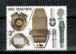GREAT BRITAIN UK  1972 Broadcasting Anniversaries  BBC RADIO - Unused Stamps