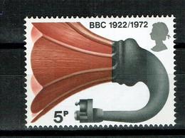 GREAT BRITAIN UK  1972 Broadcasting Anniversaries  BBC GRAMOLA - Unused Stamps