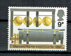 GREAT BRITAIN UK  1972 Broadcasting Anniversaries  BBC MARCONI EXPERIMENTS 1897 - Unused Stamps