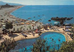 Cartolina Scalea Spiaggia Vista Da Hotel De Rosa Piscina 1980 - Cosenza