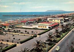 Cartolina Forte Dei Marmi Lungomare E Spiaggia 1969 Pensione - Lucca