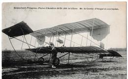 Brasschaet-Polygone - Plaine D'Aviation De St-Job In't Goor. Mr. Le Comte D'Hespel Et Son Biplan. - Brecht