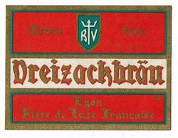 Ancienne étiquette Brasserie Winckler à Lyon 69 - Beer
