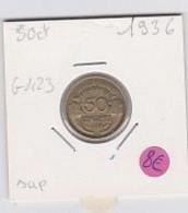50 Cts Morlon Cupro-aluminium  1936   Sup - G. 50 Centesimi