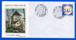 Enveloppe Oblitération Cachet Flamme Arts Et Philatélie Domérat Allier 1990 - Matasellos Conmemorativos