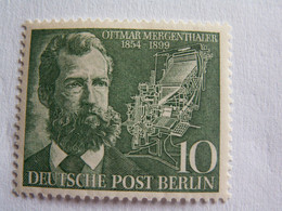 TIMBRE  BERLIN  1954  N°  105  --  NEUF  **    MERGENTHALER   ( Cote 2014 : 5 Euro  ) - Neufs