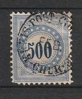 1882. 500 C. Ultramarine/blue Minus One Perf. Mi. #14 220 € - Strafportzegels