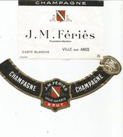N3 / Wine Old Liqueur Alcohol LABEL Etichetta Etiqueta / Etiquette Alcool / CHAMPAGNE J M FERIES - Champagne