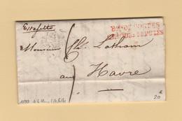 Bureau De Postes Chambre Des Deputes - Estafette Le Havre - 1833 - 1849-1876: Periodo Classico