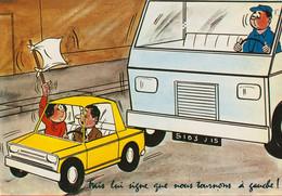 002276 - Fais Lui Signe Que Nous Tournons à Gauche - Humor