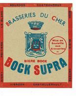 Ancienne étiquette Brasserie Du Cher à Bourges 18 - Beer