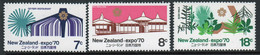 New Zealand 1970 Set Of Stamps Celebrating The World Fair. - Ongebruikt