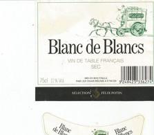 N3 / Wine Old Liqueur Alcohol LABEL Etichetta Etiqueta / Etiquette Alcool / CHAMPAGNE BLANC DE BLANC - Champagne