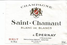 N3 / Wine Old Liqueur Alcohol LABEL Etichetta Etiqueta / Etiquette Alcool / CHAMPAGNE  SAINT CHAMAND - Champagne