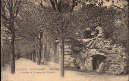 NEUILLY. Cpa. -Château De Saint-James. Le Rocher Et L'Avenue Des Tilleuls.. (scans Recto-verso) - Neuilly Sur Seine