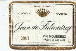 N3 / Wine Old Liqueur Alcohol LABEL Etichetta Etiqueta / Etiquette Alcool / CHAMPAGNE  Jean De FALANDREY - Champagne