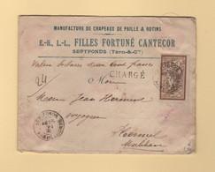 Type Merson - Septfonds - Tarn Et Garonne - 1905 - Charge Valeur Declaree - 1877-1920: Semi-Moderne