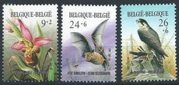 Z0146 - BELGIE - BELGIUM - 1987 (nr2244-45-46) - EUROPEES JAAR MILIEU - ORCHIDEE - VLEERMUIS - SLECHTVALK - UNUSED - Nuevos