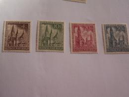 SERIE  BERLIN  1953  N° 92 à  94 --  NEUFS  **  CONSOLIDATION  DES  RUINES  DE  L' EGLISE   ( Cote 2014 :  30  Euro  ) - Neufs