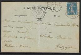 Kaart Verstuurd Uit Mons En Baroeul Nord Naar Wauthier Braine - Lettres & Documents