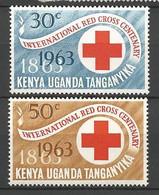 CENTENAIRE DE LA CROIX ROUGE N° 127 Et 128 NEUF** LUXE SANS  CHARNIERE  / MNH - Kenya & Uganda