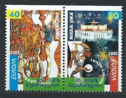 Géorgie YT 299a-300a Neuf Sans Charnière - XX - MNH Europa 2002 - Georgien