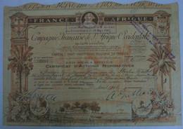 Compagnie Française De L'Afrique Occidentale - Action Nominative (1948) - Afrika