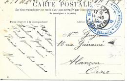 76-cachet Hôpital Aux N°3 à Elbeuf Sur CP De Thuit-Anger En 1915 - Guerra Del 1914-18
