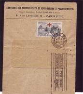 Croix Rouge N° 156  Sur Lettre - Lettres & Documents