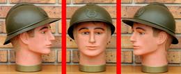 BELGIQUE WW1 Casque Adrian Modèle 15 Authentique ( Repeint) - Headpieces, Headdresses