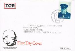 39028. Carta F.D.C. OXFORD (England) 1974. Centenary Sir Wiston CHURCHILL. Personal - Covers & Documents