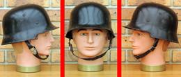 Allemagne WW2 Casque Modèle 1934 Police Rail Sapeur-Pompier Peinture D'origine - Headpieces, Headdresses