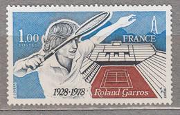 FRANCE 1978 Tennis Yv 2012 Mi 2102 MNH Neuf (**) #17097 - Nuovi
