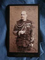 Photo CDV Barthélely à Nancy - Militaire Officier état Major Commandant, Décorations,circa 1890 L532 - Antiche (ante 1900)