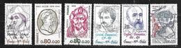 FRANCE Célébrités Année 1975 N° 1880 / 1882 +1896 / 1898 Oblitérés - Usati