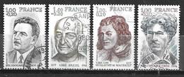FRANCE Célébrités Année 1977 N° 1953 / 1956 Oblitérés - Usati